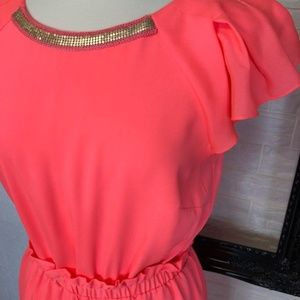 GIANNI BINI Women's Neon Coral Dress